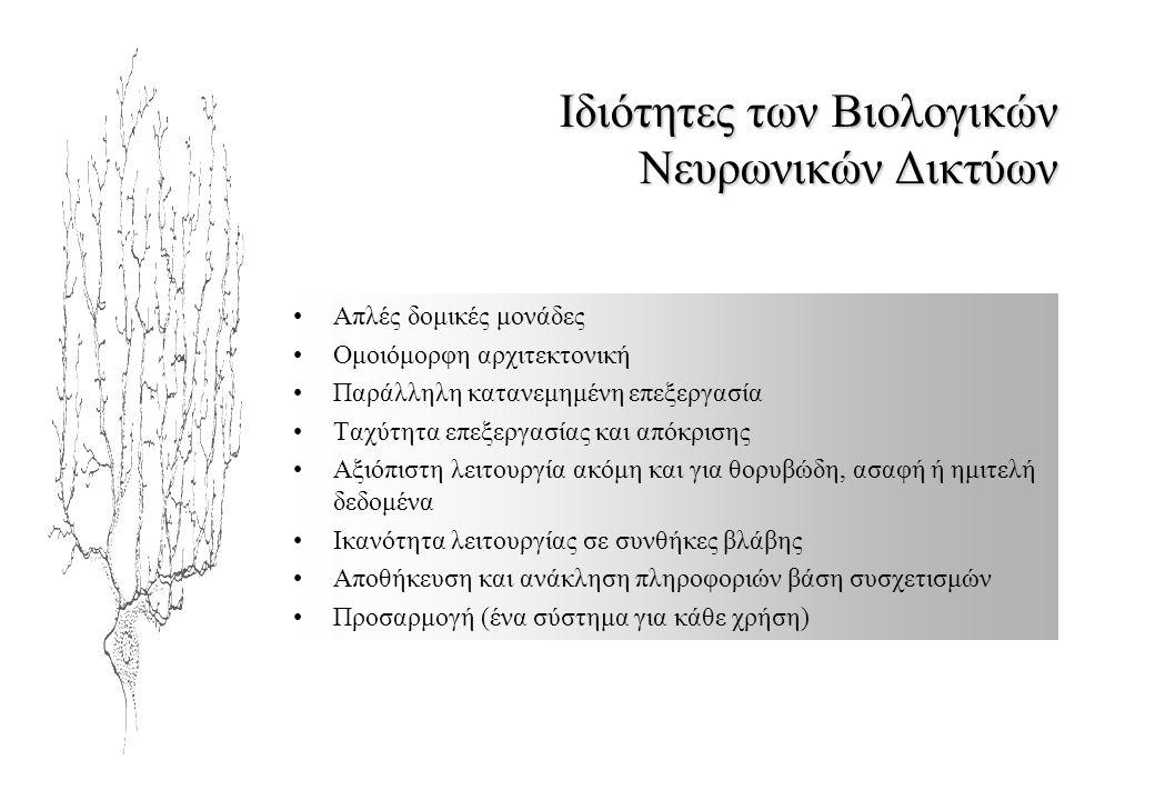 Ιδιότητες των Βιολογικών Νευρωνικών Δικτύων