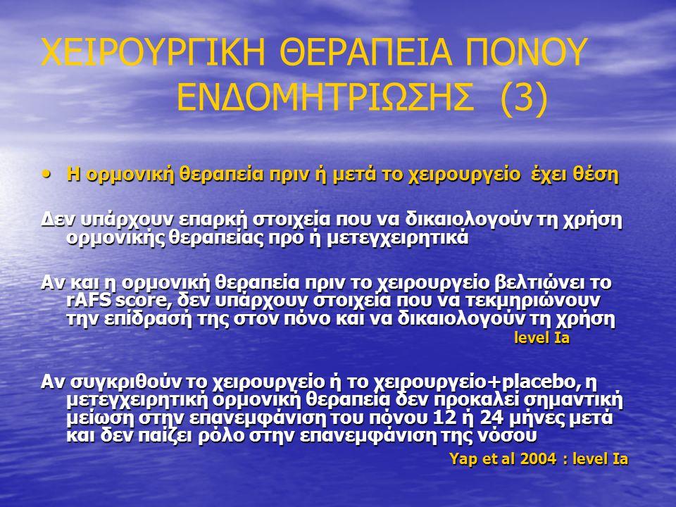 ΧΕΙΡΟΥΡΓΙΚΗ ΘΕΡΑΠΕΙΑ ΠΟΝΟΥ ΕΝΔΟΜΗΤΡΙΩΣΗΣ (3)