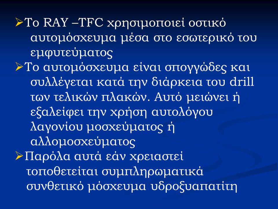 Το RAY –TFC χρησιμοποιεί οστικό