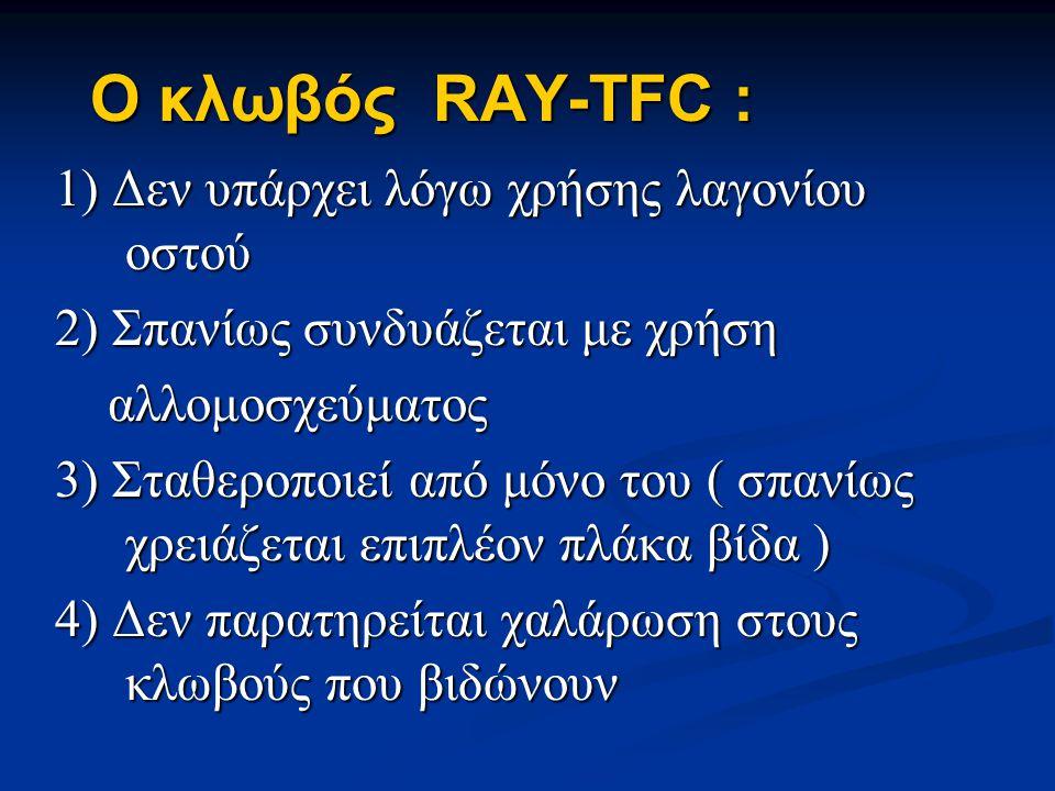 Ο κλωβός RAY-TFC : 1) Δεν υπάρχει λόγω χρήσης λαγονίου οστού