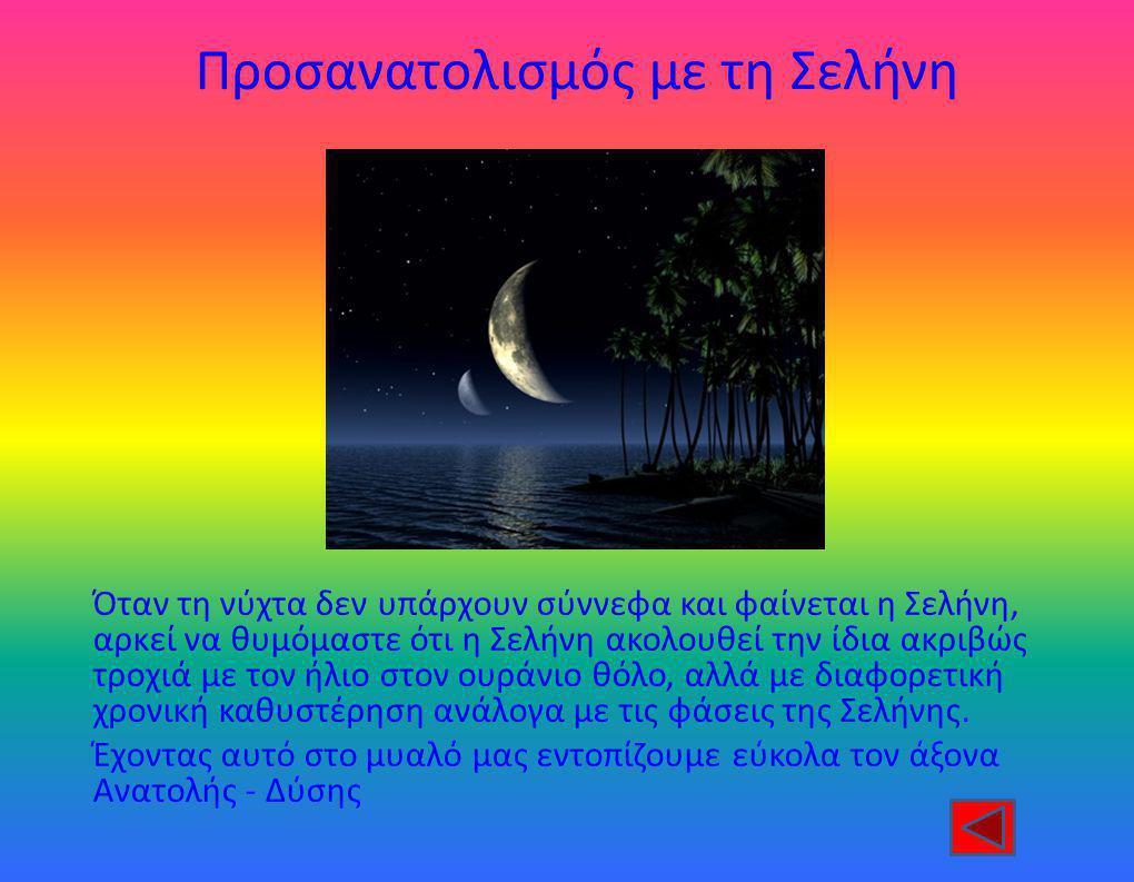 Προσανατολισμός με τη Σελήνη