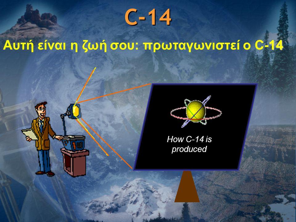 C-14 Αυτή είναι η ζωή σου: πρωταγωνιστεί ο C-14 How C-14 is produced