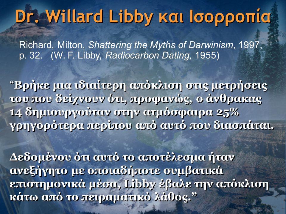 Dr. Willard Libby και Ισορροπία