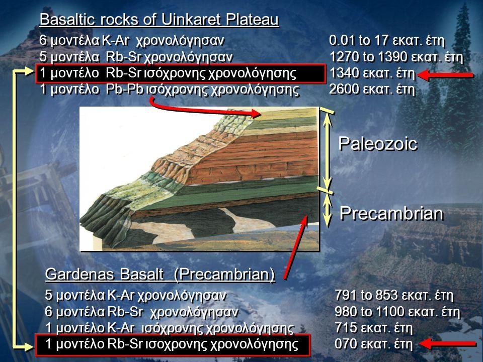 Paleozoic Precambrian Basaltic rocks of Uinkaret Plateau