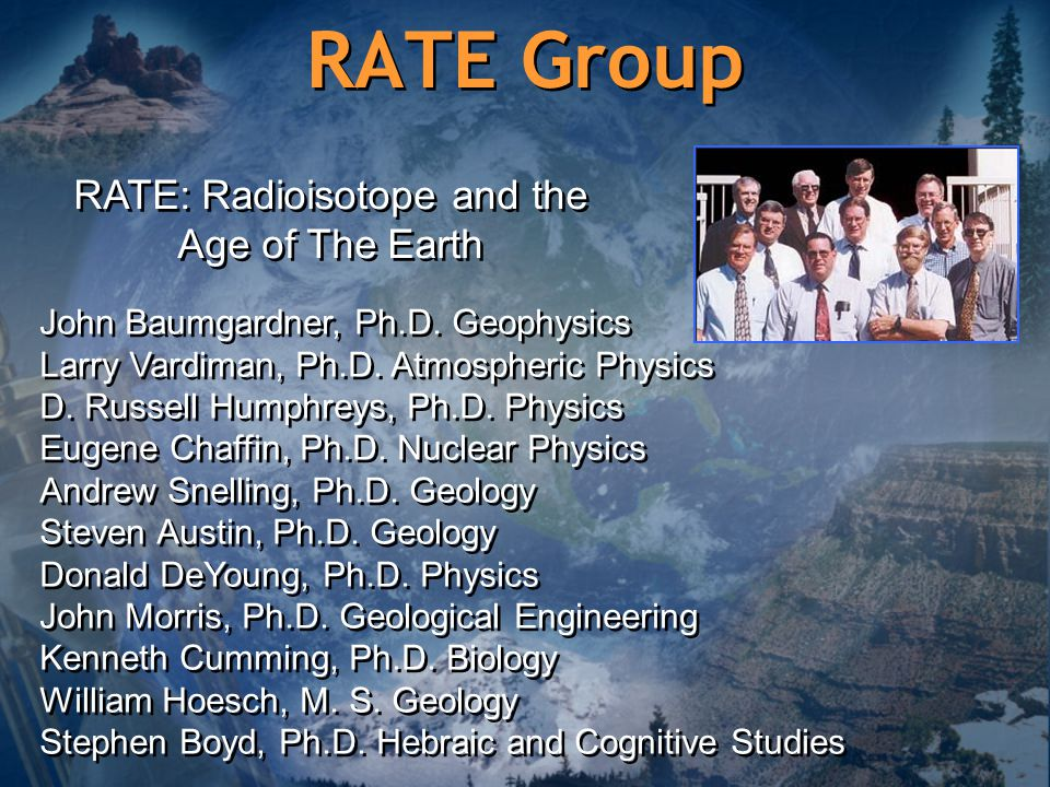RATE: Radioisotope and the Age of The Earth
