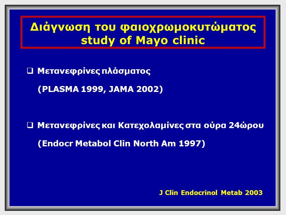Διάγνωση του φαιοχρωμοκυτώματος study of Mayo clinic