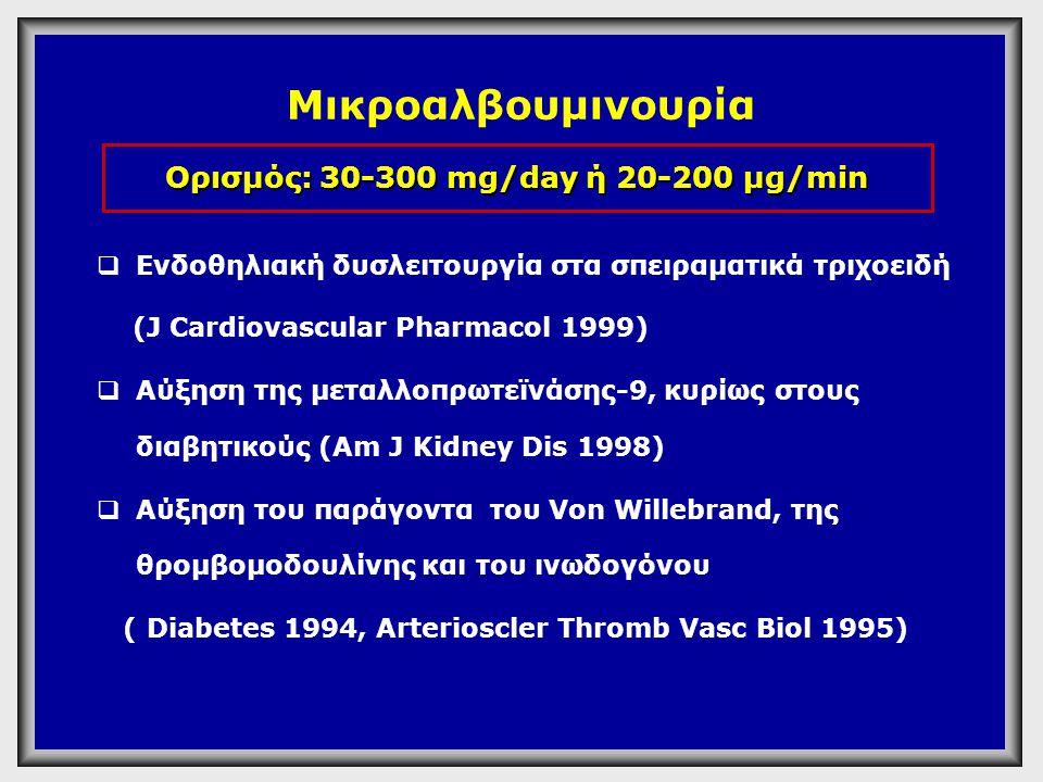 Ορισμός: 30-300 mg/day ή 20-200 μg/min