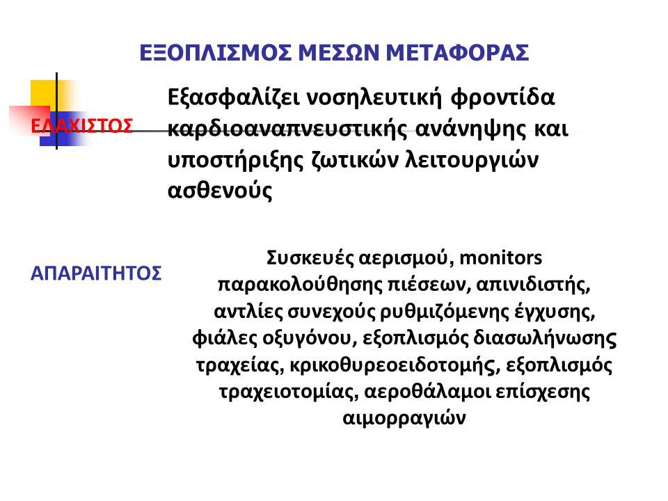 ΕΞΟΠΛΙΣΜΟΣ ΜΕΣΩΝ ΜΕΤΑΦΟΡΑΣ