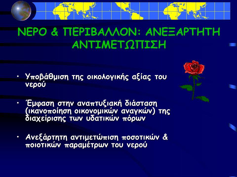ΝΕΡΟ & ΠΕΡΙΒΑΛΛΟΝ: ΑΝΕΞΑΡΤΗΤΗ ΑΝΤΙΜΕΤΩΠΙΣΗ