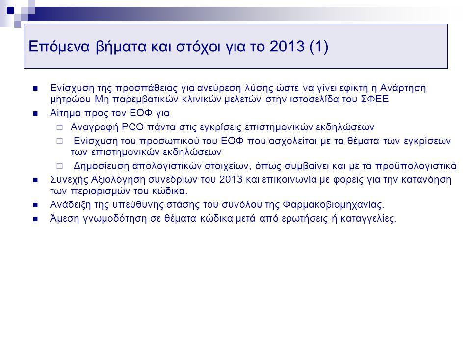 Επόμενα βήματα και στόχοι για το 2013 (1)