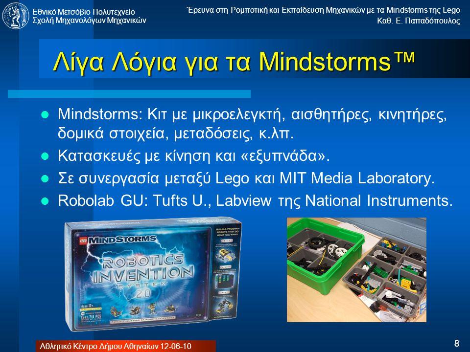Λίγα Λόγια για τα Mindstorms™