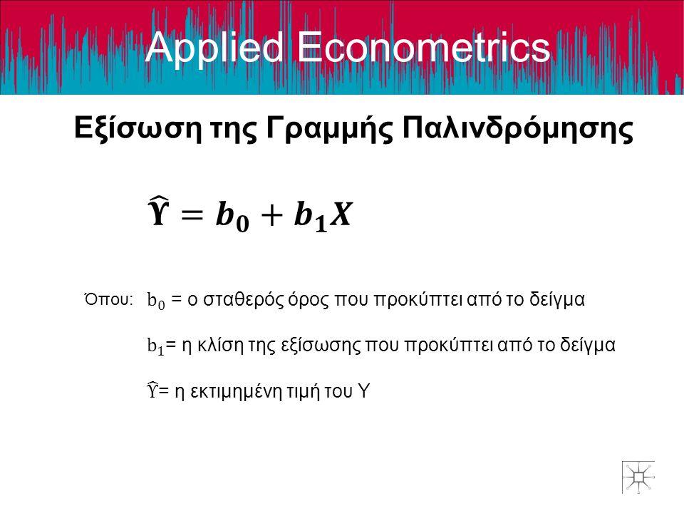 Εξίσωση της Γραμμής Παλινδρόμησης