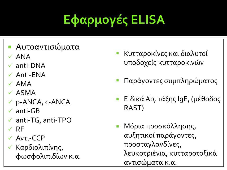 Εφαρμογές ΕLISA Αυτοαντισώματα