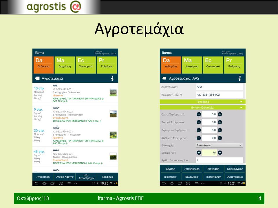 Αγροτεμάχια Οκτώβριος 13 ifarma - Agrostis ΕΠΕ