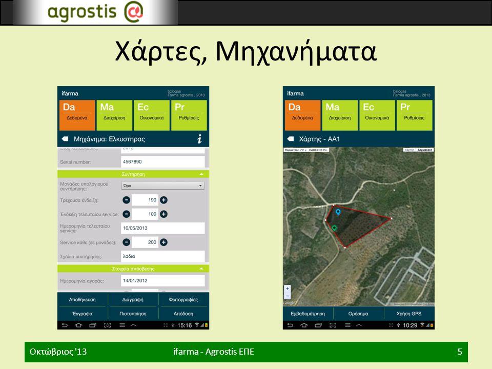 Χάρτες, Μηχανήματα Οκτώβριος 13 ifarma - Agrostis ΕΠΕ