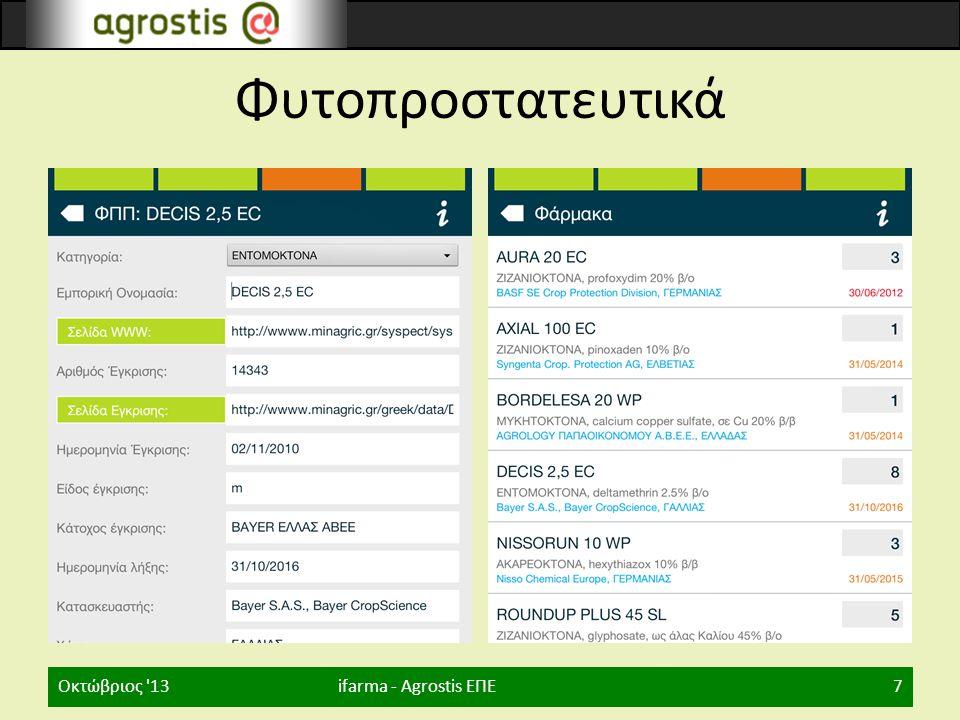 Φυτοπροστατευτικά Οκτώβριος 13 ifarma - Agrostis ΕΠΕ