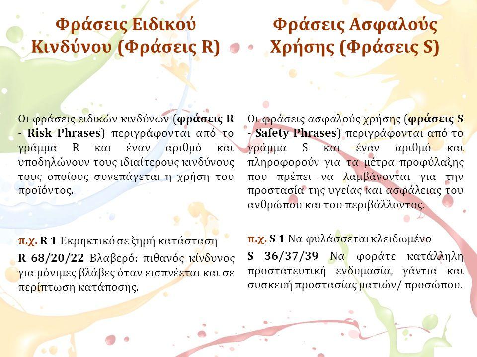Φράσεις Ειδικού Κινδύνου (Φράσεις R)