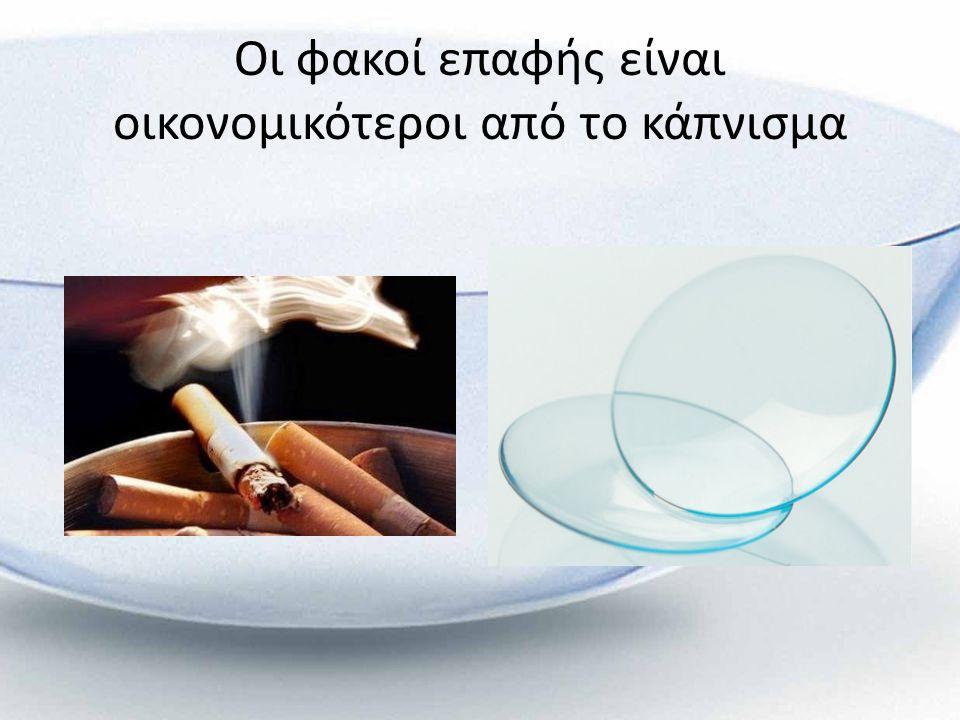 Οι φακοί επαφής είναι οικονομικότεροι από το κάπνισμα