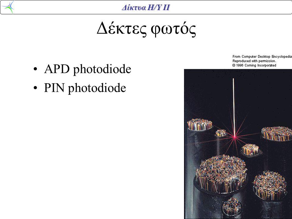 Δέκτες φωτός APD photodiode PIN photodiode