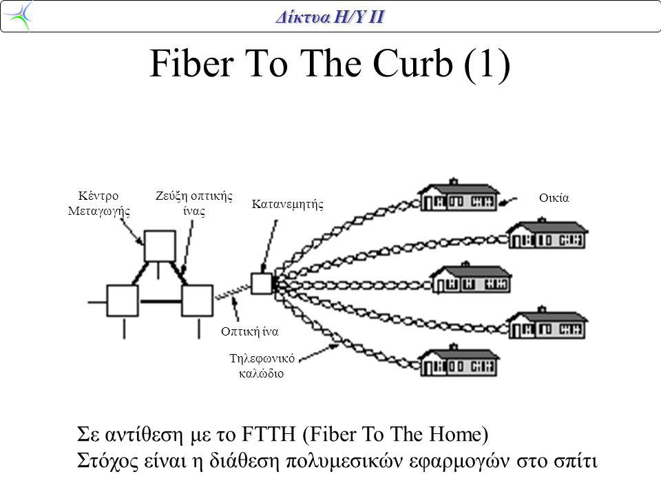 Fiber To The Curb (1) Σε αντίθεση με το FTTH (Fiber To The Home)