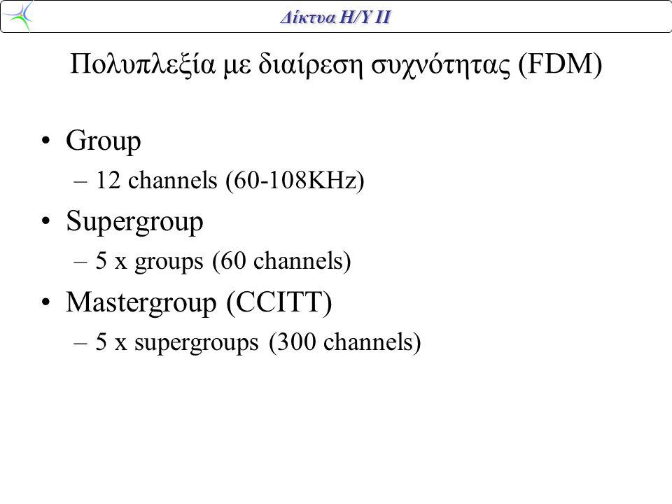 Πολυπλεξία με διαίρεση συχνότητας (FDM)