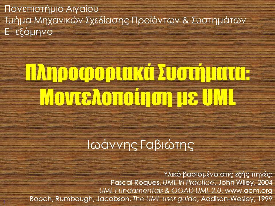 Πληροφοριακά Συστήματα: Μοντελοποίηση με UML