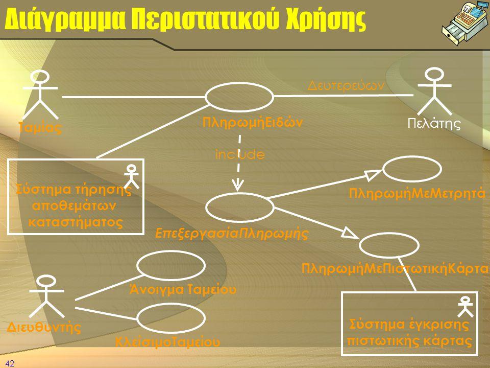 Διάγραμμα Περιστατικού Χρήσης