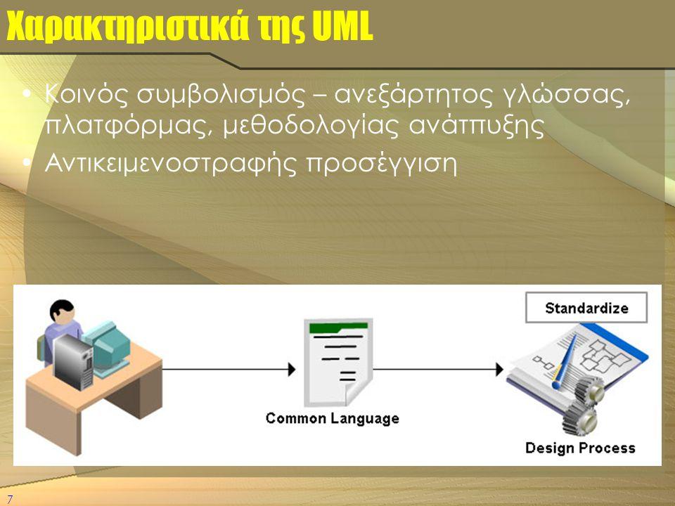 Χαρακτηριστικά της UML