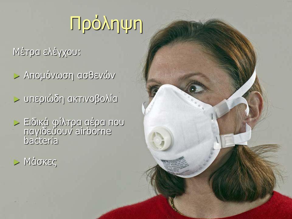 Πρόληψη Μέτρα ελέγχου: Απομόνωση ασθενών υπεριώδη ακτινοβολία