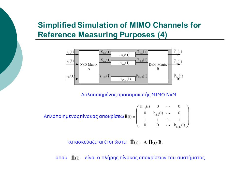 Simplified Simulation of MIMO Channels for Reference Measuring Purposes (4)