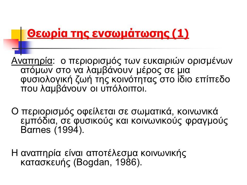 Θεωρία της ενσωμάτωσης (1)