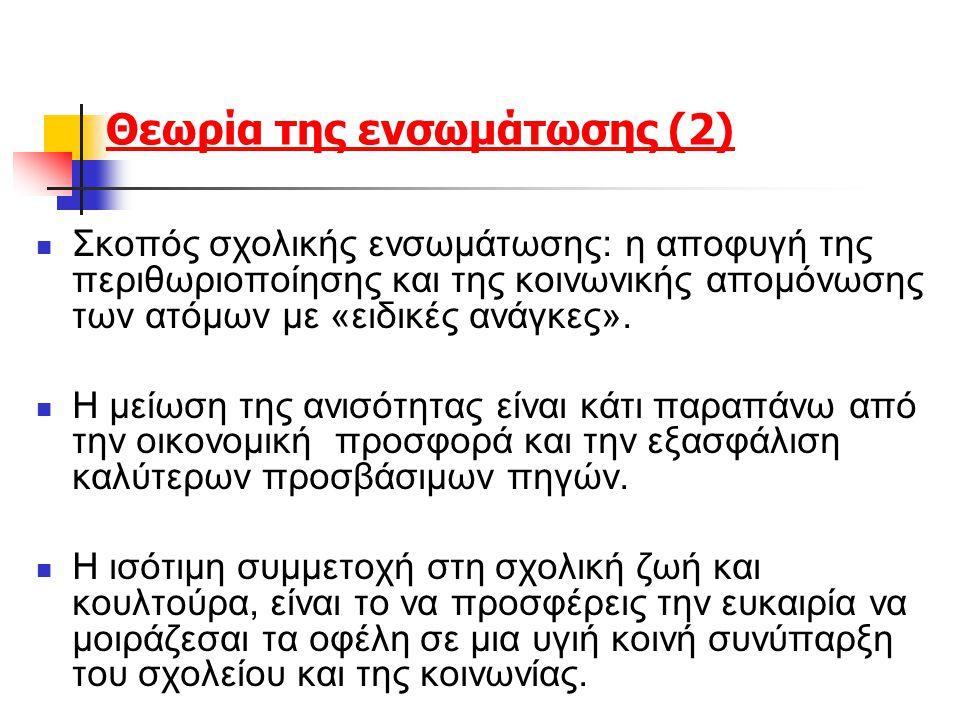 Θεωρία της ενσωμάτωσης (2)