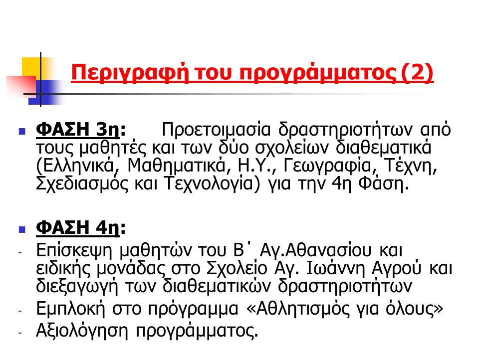 Περιγραφή του προγράμματος (2)