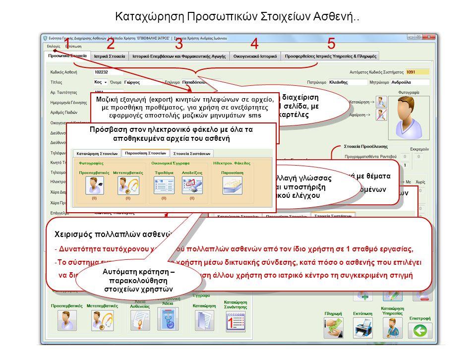 1 2 3 4 5 Καταχώρηση Προσωπικών Στοιχείων Ασθενή..
