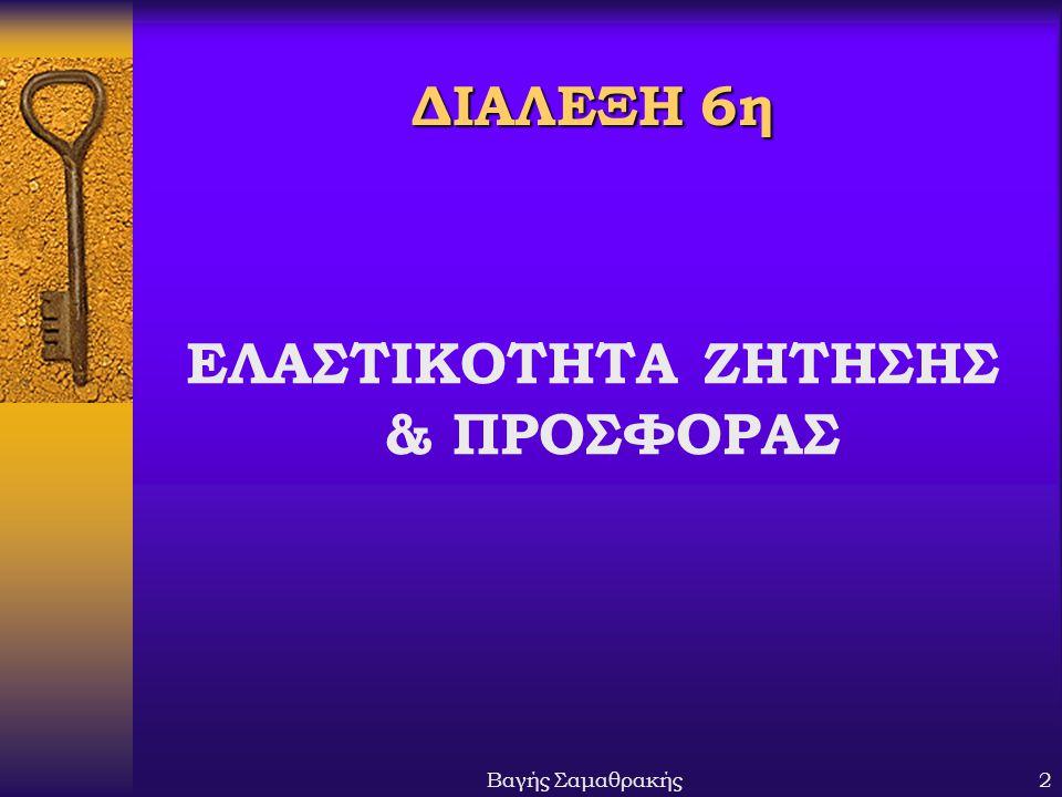 ΕΛΑΣΤΙΚΟΤΗΤΑ ΖΗΤΗΣΗΣ & ΠΡΟΣΦΟΡΑΣ