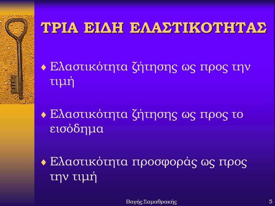 ΤΡΙΑ ΕΙΔΗ ΕΛΑΣΤΙΚΟΤΗΤΑΣ