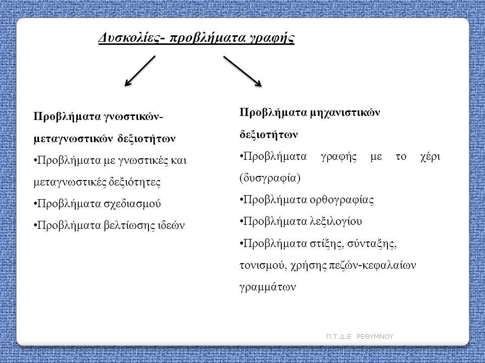 Δυσκολίες- προβλήματα γραφής