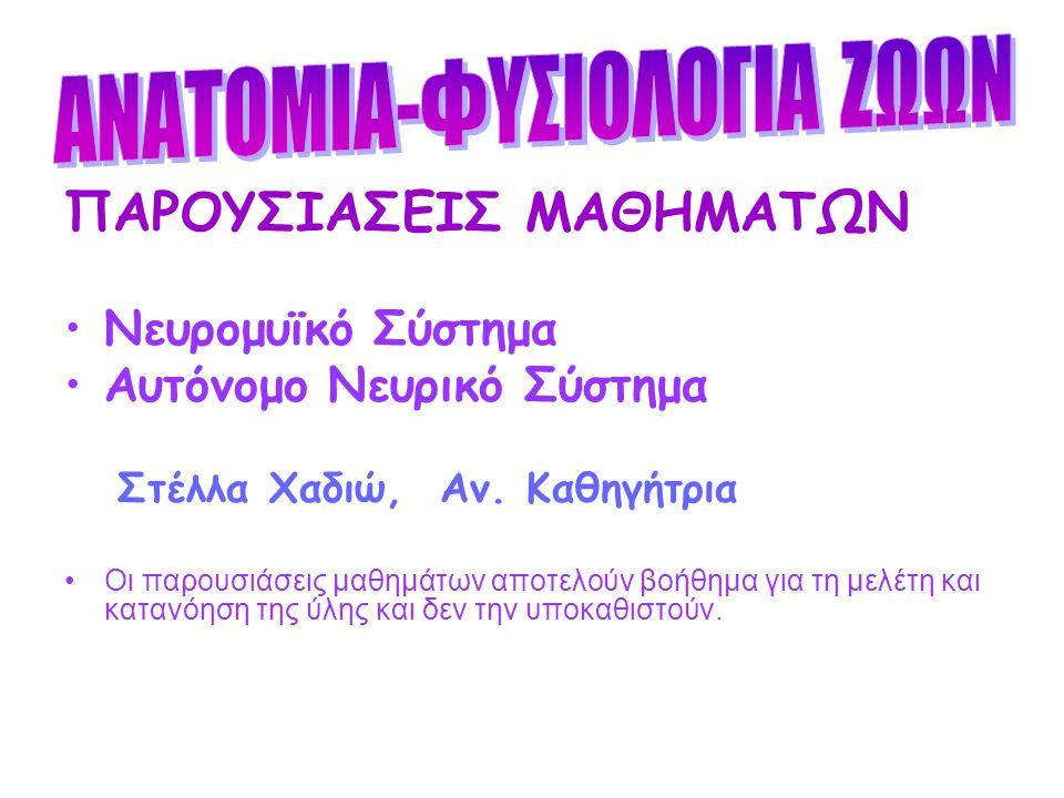 ΑΝΑΤΟΜΙΑ-ΦΥΣΙΟΛΟΓΙΑ ΖΩΩΝ