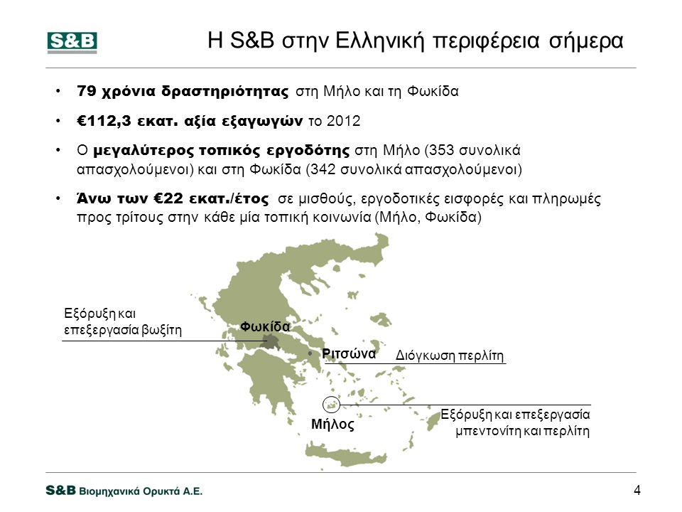 Η S&B στην Ελληνική περιφέρεια σήμερα