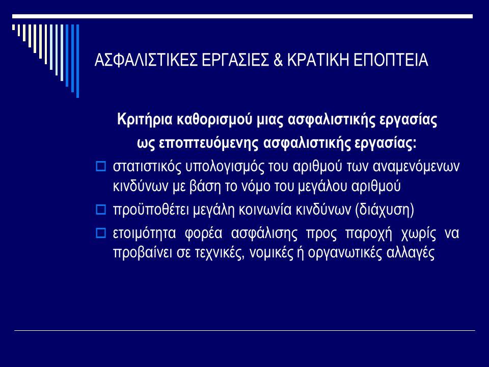 ΑΣΦΑΛΙΣΤΙΚΕΣ ΕΡΓΑΣΙΕΣ & ΚΡΑΤΙΚΗ ΕΠΟΠΤΕΙΑ