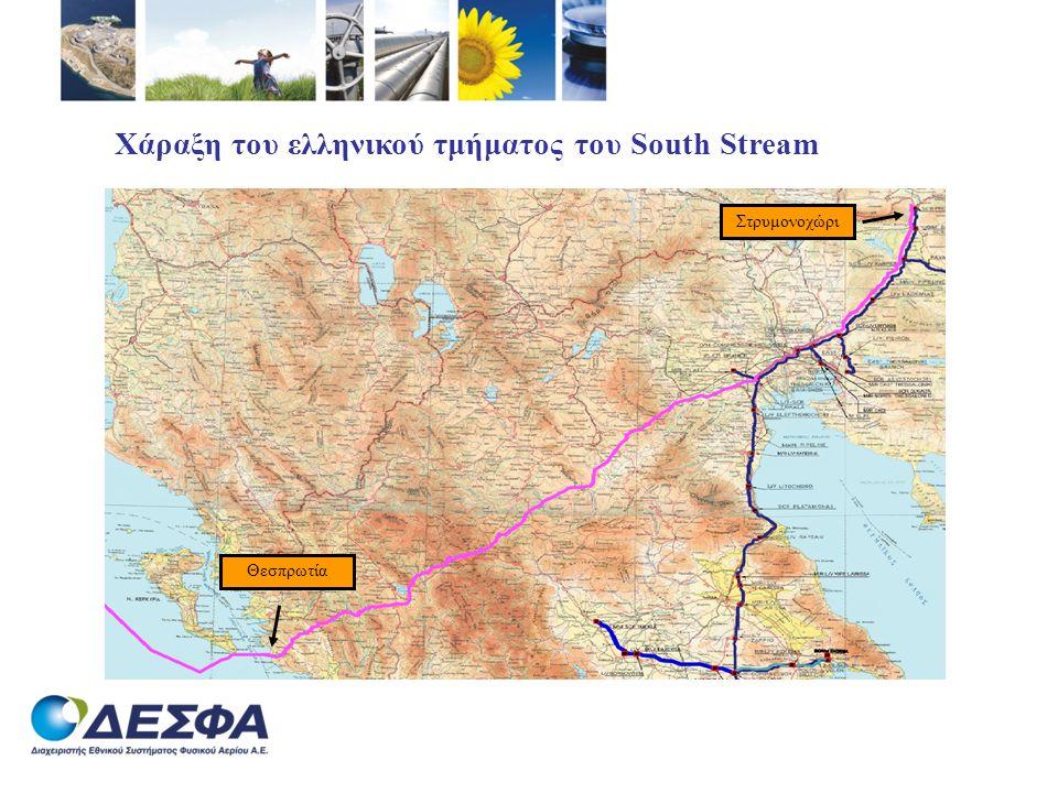 Χάραξη του ελληνικού τμήματος του South Stream