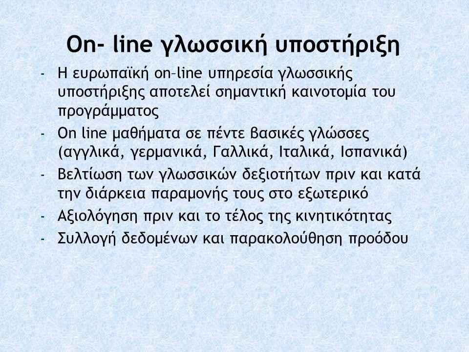On- line γλωσσική υποστήριξη