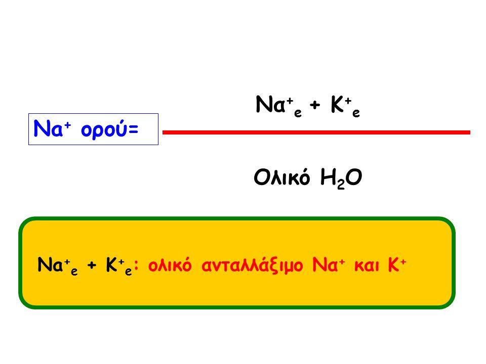 Να+e + K+e Νa+ ορού= Ολικό H2O