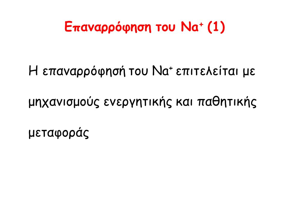 Eπαναρρόφηση του Νa+ (1)