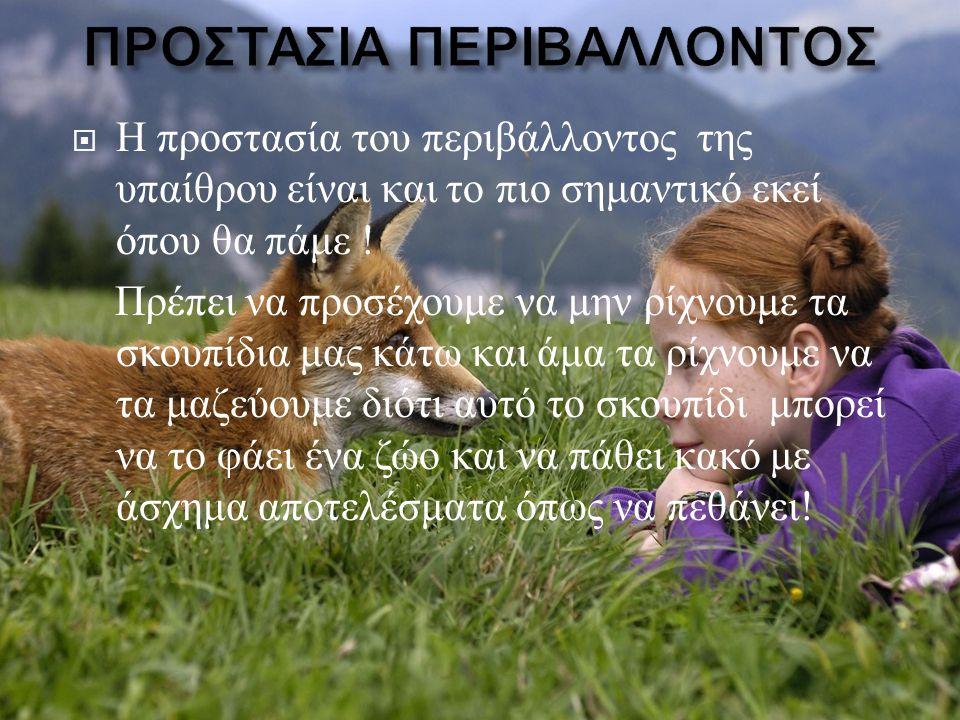 ΠΡΟΣΤΑΣΙΑ ΠΕΡΙΒΑΛΛΟΝΤΟΣ