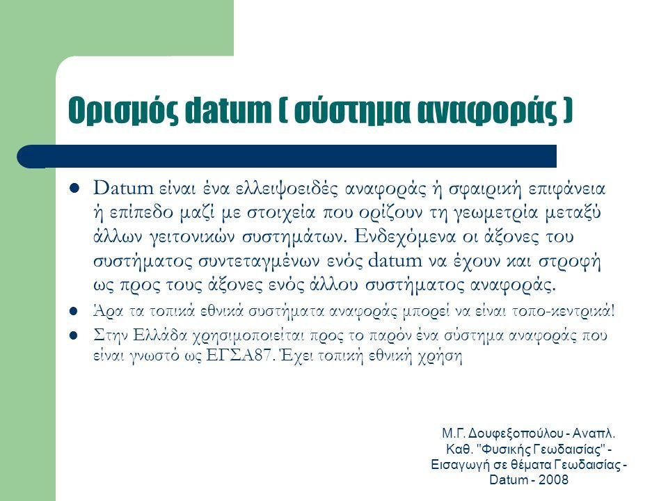 Ορισμός datum ( σύστημα αναφοράς )