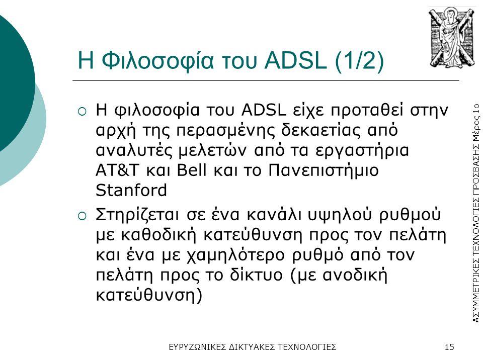 Η Φιλοσοφία του ADSL (1/2)