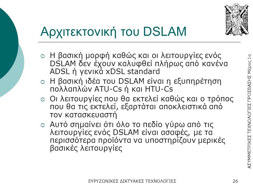 Αρχιτεκτονική του DSLAM