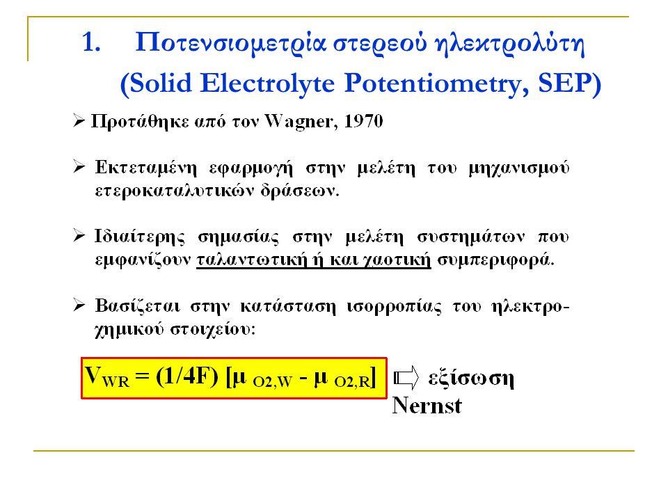 Ποτενσιομετρία στερεού ηλεκτρολύτη (Solid Electrolyte Potentiometry, SEP)