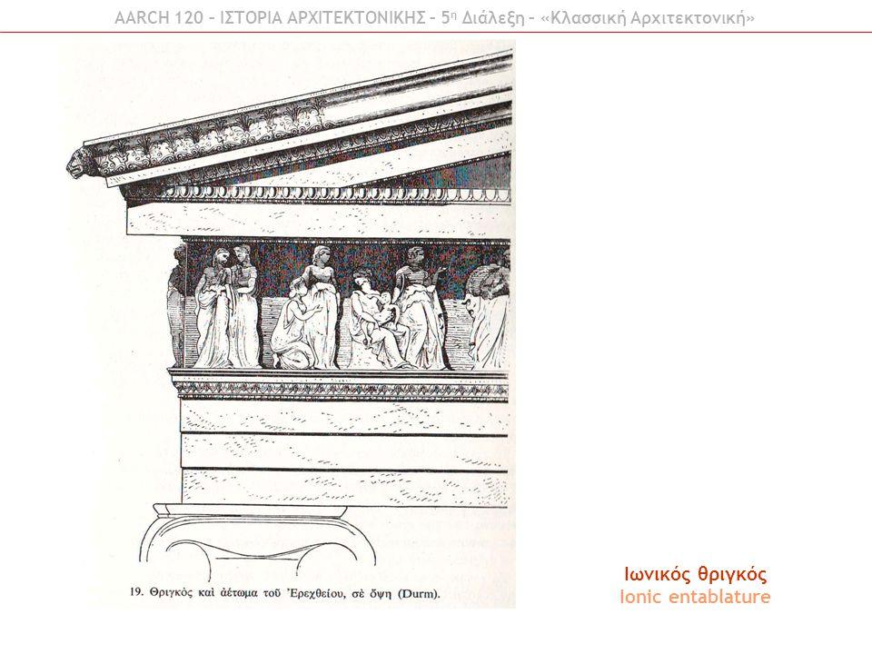 Ιωνικός θριγκός Ionic entablature